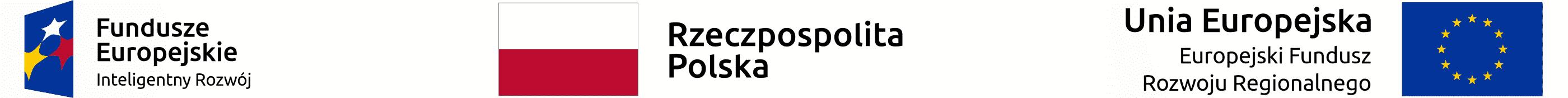 Baner przedstawiający Program Operacyjny Inteligentny Rozwój z flagami Polski i Unii Europejskiej
